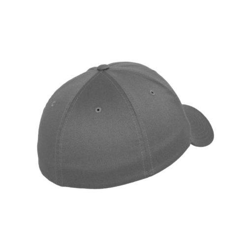 Flexfit Cap Grau Wollmischung 6 Panel - Fitted Seitenansicht hinten