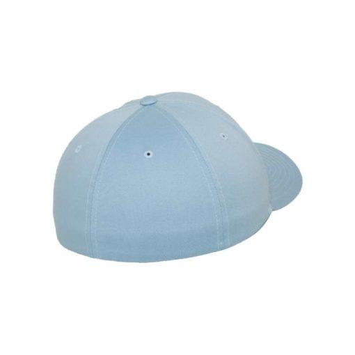 Flexfit Cap Hellblau Wollmischung 6 Panel - Fitted Seitenansicht hinten