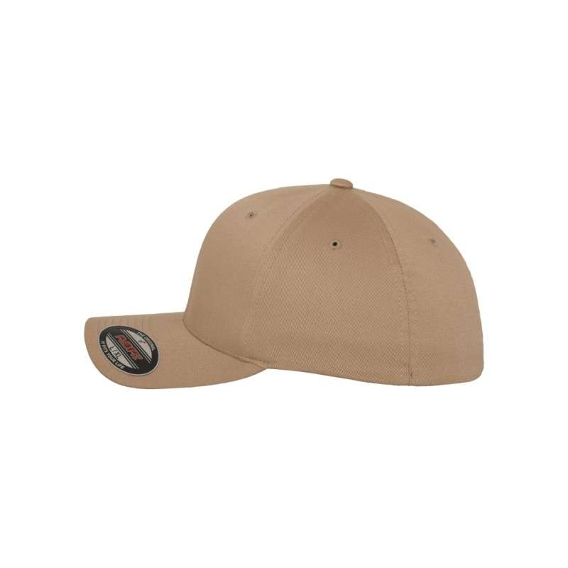 c3327f42789a Premium Kinder Flexfit Wooly Combed   Khaki   6 Panel   Fitted ...