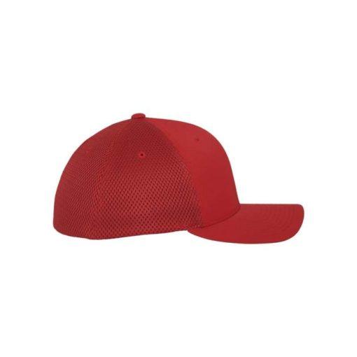 Flexfit Cap Rot Tactel Atmungsaktiv - Fitted Seitenansicht rechts