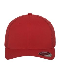 Flexfit Cap Rot Tactel Atmungsaktiv - Fitted Ansicht vorne