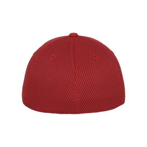 Flexfit Cap Rot Tactel Atmungsaktiv - Fitted Ansicht hinten