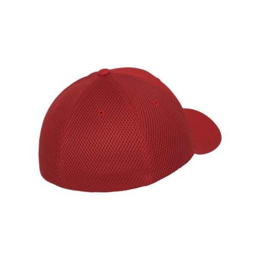 Flexfit Cap Rot Tactel Atmungsaktiv - Fitted Seitenansicht hinten