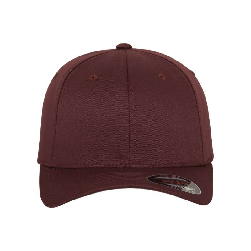 25bb872d8e25 Premium Flexfit Wooly Combed   Maroon   6 Panel   Fitted - styleyourcap®