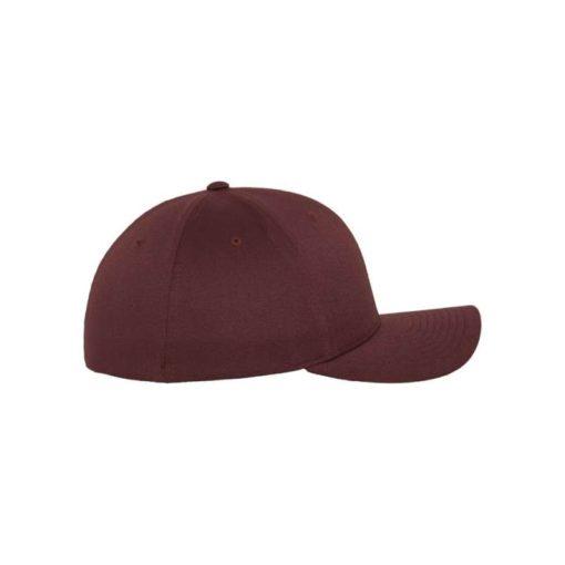 Flexfit Cap Marroon/Kastanie Wooly Combed - Fitted Seitenansicht rechts