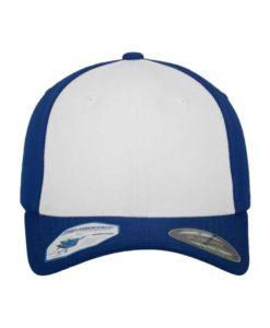Flexfit Cap Performance Blau/Weiß - Fitted Ansicht vorne