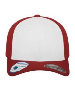 Flexfit Cap Performance Rot/Weiß Fitted 6 vordere Ansicht