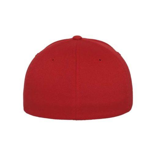 Flexfit Cap Rot Wollmischung - Fitted Ansicht hinten