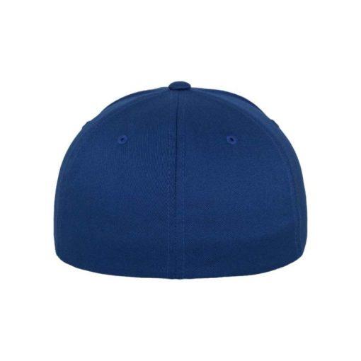 Flexfit Cap Royalblau Wollmischung 6 Panel - Fitted Ansicht hinten
