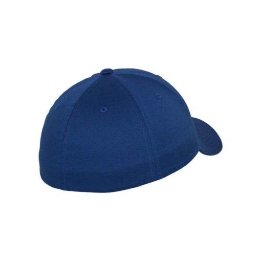 Flexfit Cap Royalblau Wollmischung 6 Panel - Fitted Seitenansicht hinten