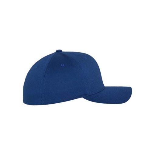 Flexfit Cap Royalblau Wollmischung 6 Panel - Fitted Seitenansicht rechts