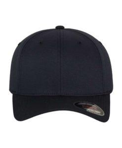Flexfit Cap Schwarzblau Wollmischung - Fitted Ansicht vorne