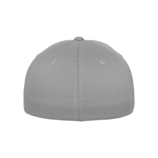 Flexfit Cap Silber Wollmischung - Fitted Ansicht hinten