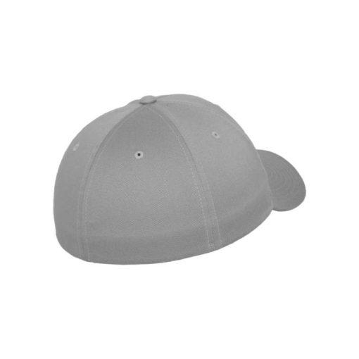 Flexfit Cap Silber Wollmischung - Fitted Seitenansicht hinten