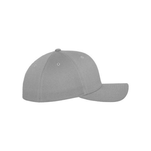 Flexfit Cap Silber Wollmischung - Fitted Seitenansicht rechts