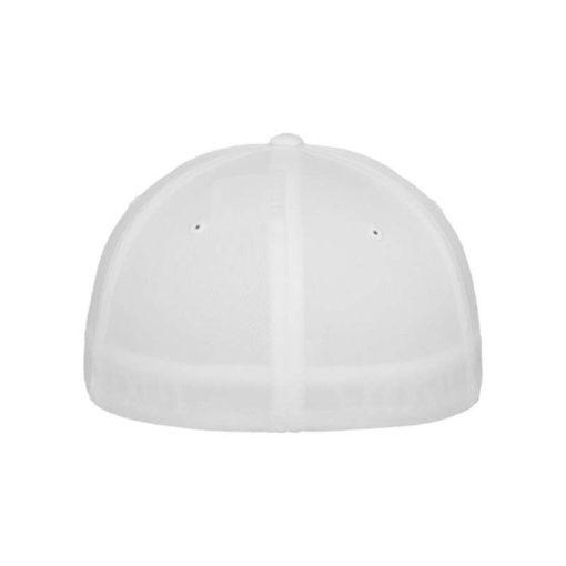 Flexfit Cap Weiß 5 Panel - Fitted Ansicht hinten