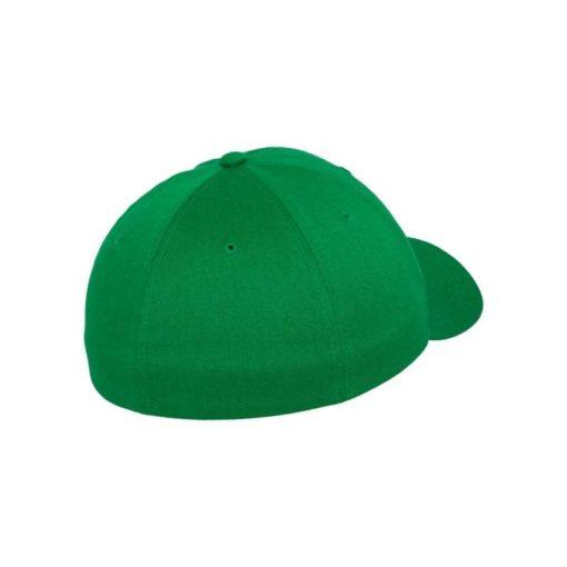Flexfit Cap Wollmischung Pepper Green 6 Panel - Fitted Seitenansicht hinten