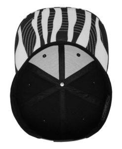 Flexfit Printed Snapback black/zebra Ansicht innen