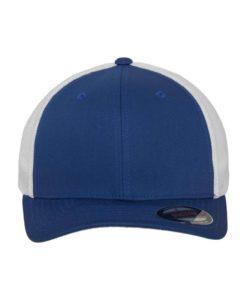 Flexfit Trucker Cap Mesh blau/weiß - Fitted Ansicht vorne