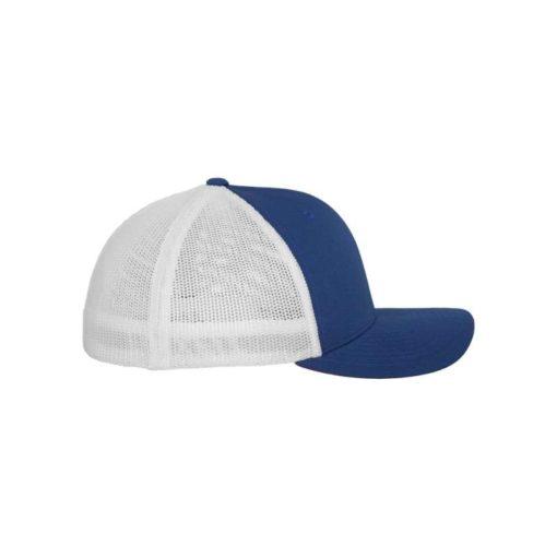 Flexfit Trucker Cap Mesh blau/weiß - Fitted Seitenansicht rechts