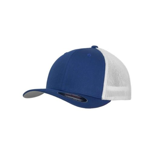 Flexfit Trucker Cap Mesh blau/weiß - Fitted