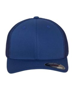 Flexfit Trucker Cap Mesh Royalblau 6 Panel - fitted Ansicht vorne