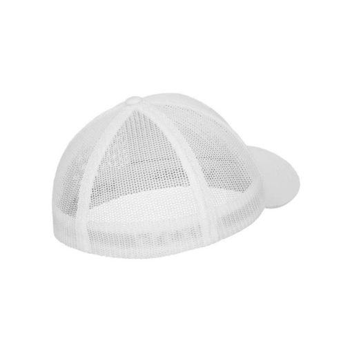 Flexfit Cap Weiß Tactel Atmungsaktiv - Fitted Seitenansicht hinten
