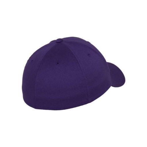 Flexfit Wooly Combed purple Seitenansicht hinten