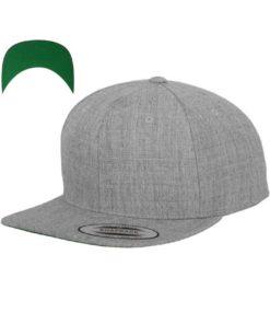 kinder-snapback-cap-classic-graumeliert-6-panel-verstellbar