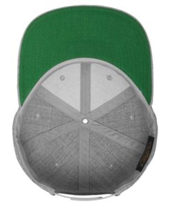 Kinder Snapback Cap Classic Graumeliert 6 Panel - verstellbar Ansicht innen