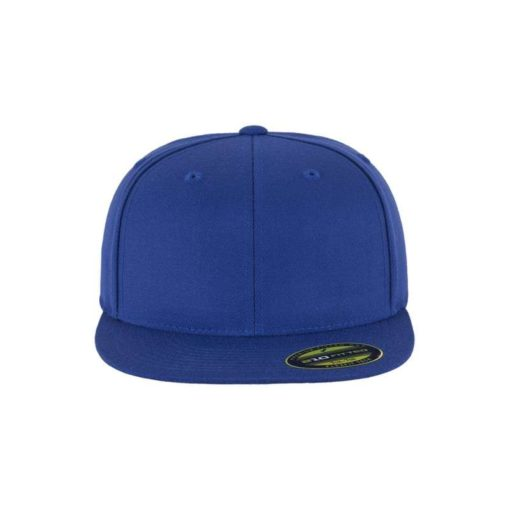 Premium Cap 210 Blau 6 Panel - Fitted Ansicht vorne