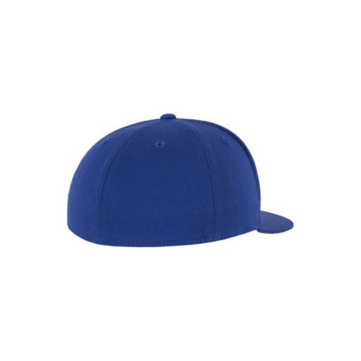 Premium Cap 210 Blau 6 Panel - Fitted Seitenansicht hinten
