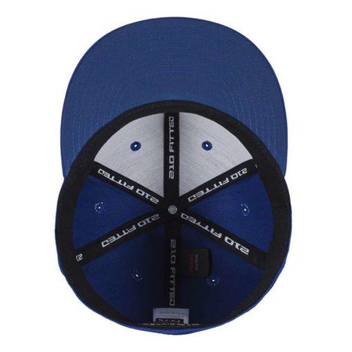 Premium Cap 210 Blau 6 Panel - Fitted Ansicht innen