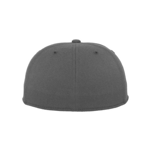 Premium Cap 210 Dunkelgrau 6 Panel - Fitted Ansicht hinten