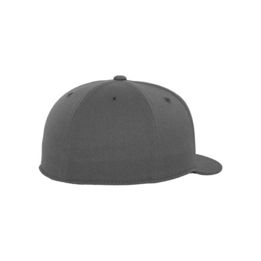 Premium Cap 210 Dunkelgrau 6 Panel - Fitted Seitenansicht hinten