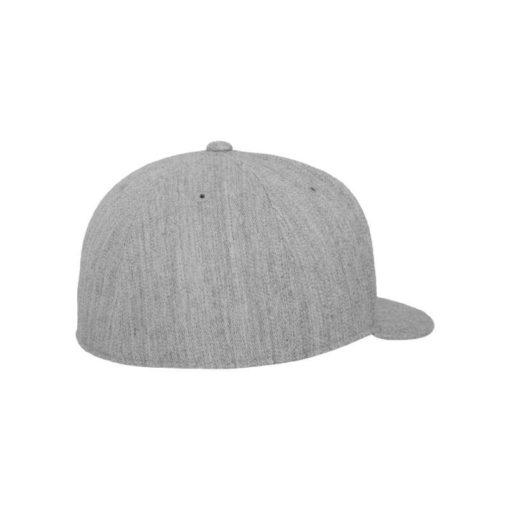 Premium Cap 210 Graumeliert 6 Panel - Fitted Seitenansicht hinten