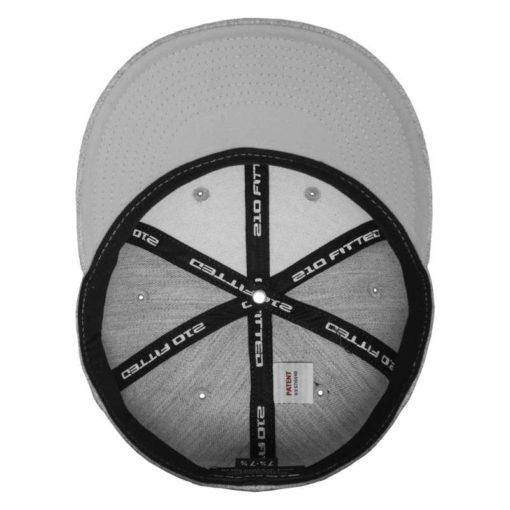 Premium Cap 210 Graumeliert 6 Panel - Fitted Ansicht innen