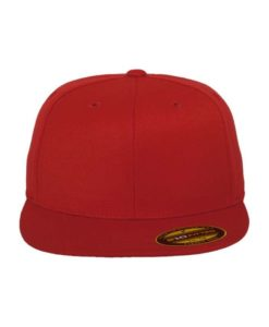 Premium Cap 210 Rot 6 Panel - Fitted Ansicht vorne