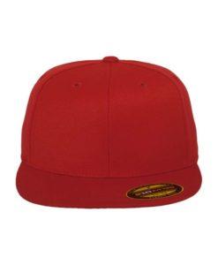Premium Cap 210 Rot 6 Panel - Fitted Ansicht vorne