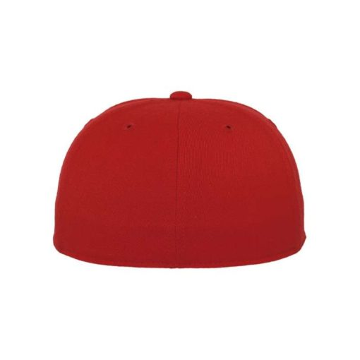 Premium Cap 210 Rot 6 Panel - Fitted Ansicht hinten