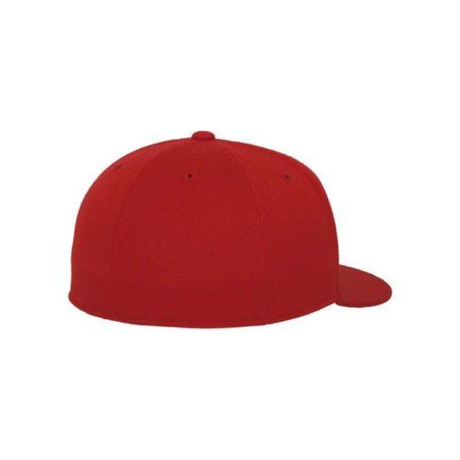 Premium Cap 210 Rot 6 Panel - Fitted Seitenansicht hinten