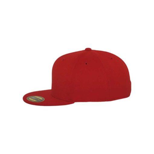 Premium Cap 210 Rot 6 Panel - Fitted Seitenansicht links