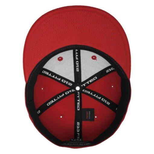 Premium Cap 210 Rot 6 Panel - Fitted Ansicht innen