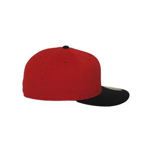 Premium Cap 210 Rot/Schwarz 6 Panel - Fitted Seitenansicht rechts