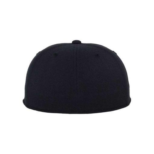 Premium Cap 210 Schwarz 6 Panel - Fitted Ansicht hinten