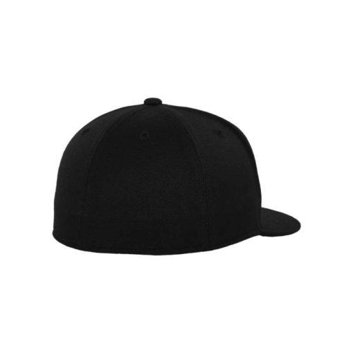 Premium Cap 210 Schwarz 6 Panel - Fitted Seitenansicht hinten