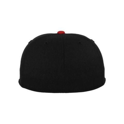 Premium Cap 210 Schwarz/Rot 6 Panel - Fitted Ansicht hinten