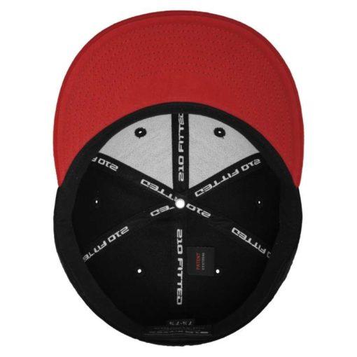 Premium Cap 210 Rot/Schwarz 6 Panel - Fitted Ansicht innen