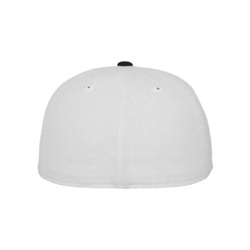 Premium Cap 210 Weiß/Schwarz 6 Panel - Fitted Ansicht hinten