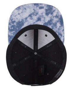Premium Snapback Cap 110 Acid Effect Schwarz/Blau 6 Panel - verstellbar Ansicht innen